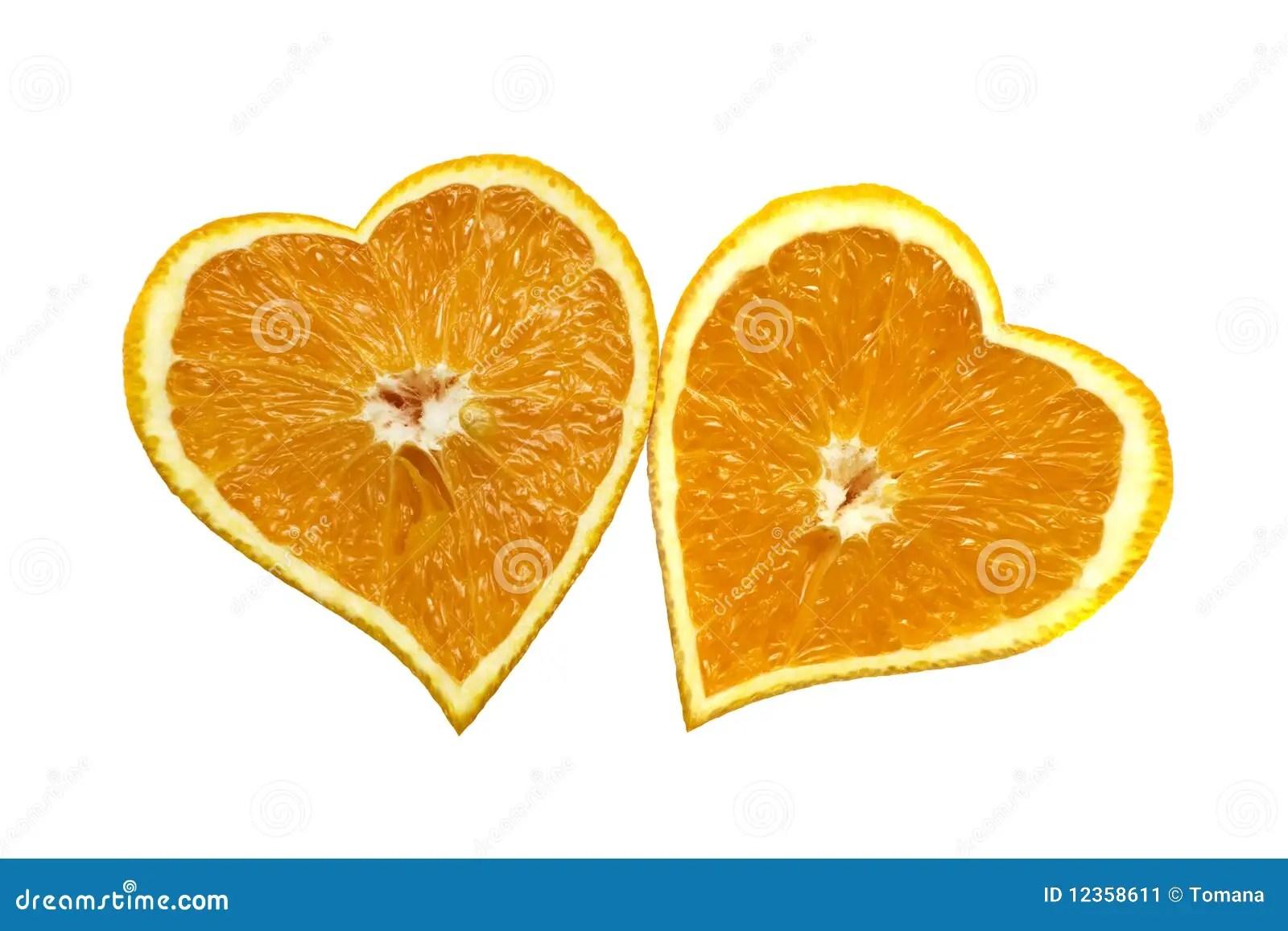 Orange Hearts Love St Valentines Day Concept Stock