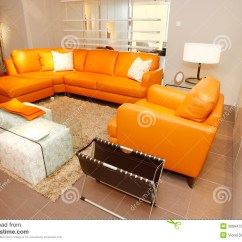 Orange Color Sofa Sets Childs Seat Leather Couch And Armchair Set In Furniture Stock