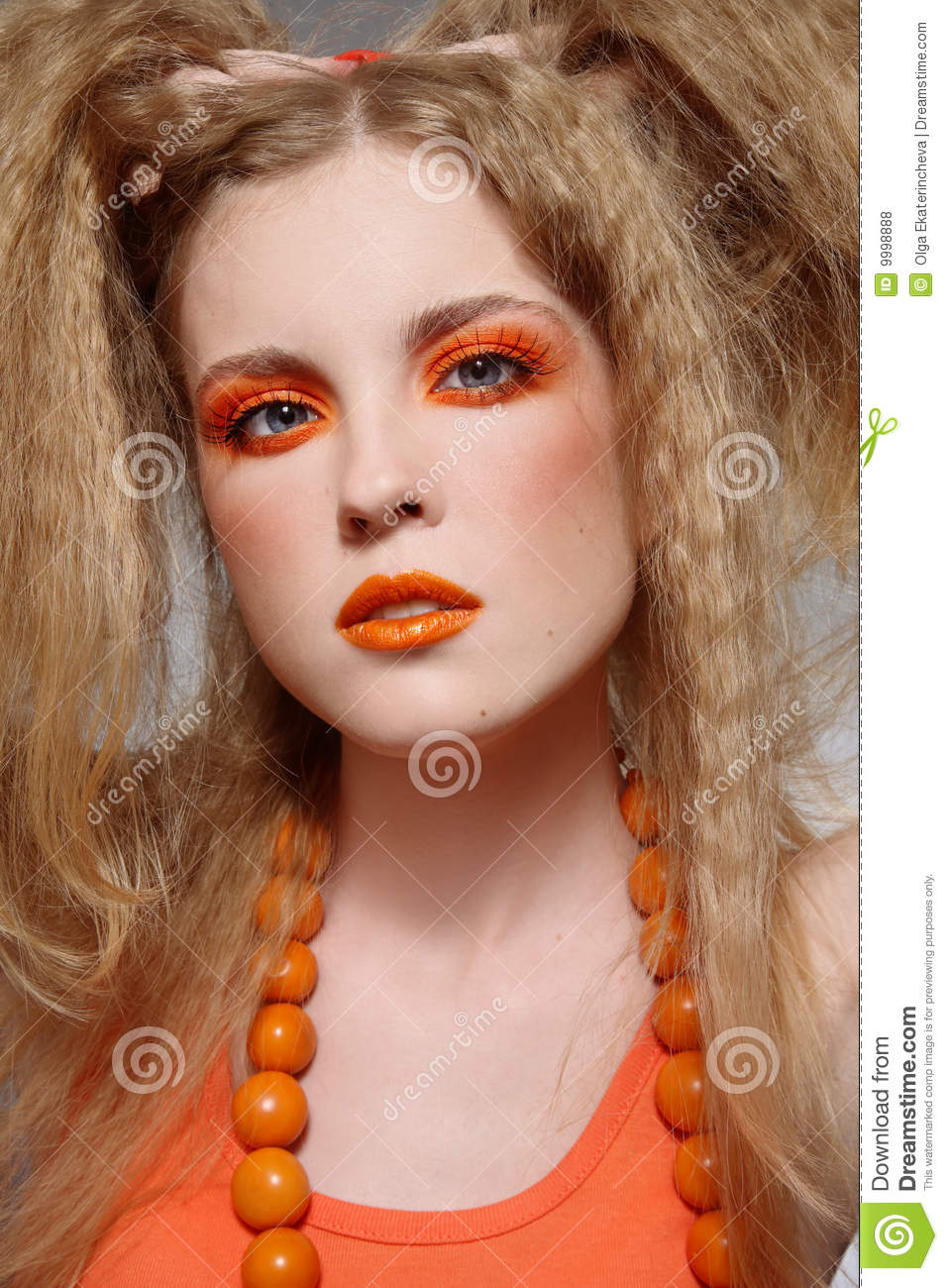 Orange Makeup Stock Photo Image Of Care Glamour Radiant