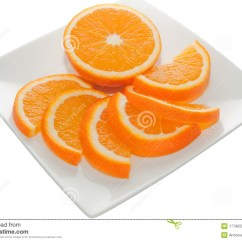 Parts Of An Orange Fruit Diagram Wiring Explanation On A Square Plate Stock Photo Image 17790552
