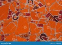 Orange And Red Tiles Mosaic Stock Image - Image: 54297417