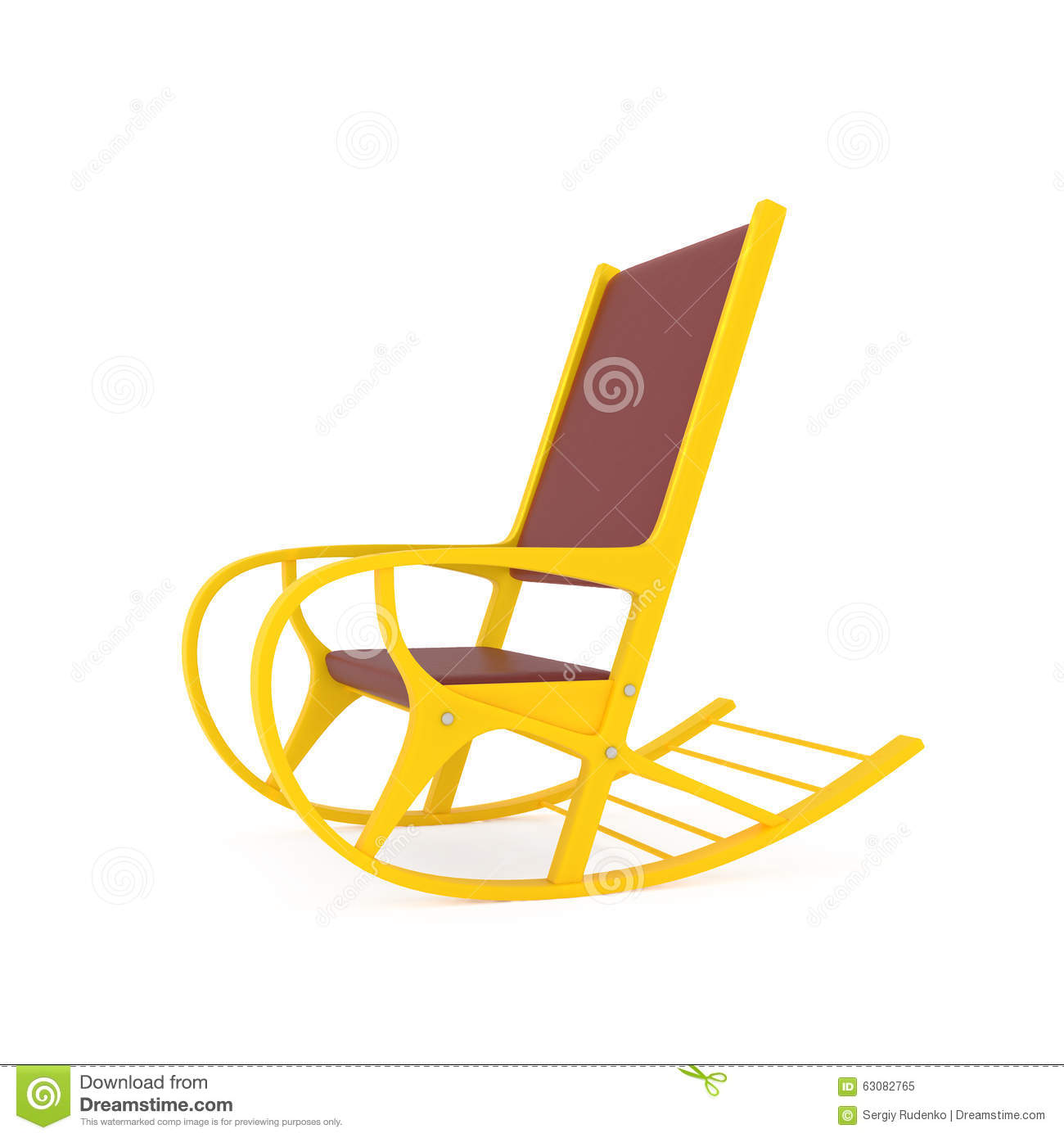 dream rocker hammock chair bamboo chairs with cushion orange rocking on white stock illustration image