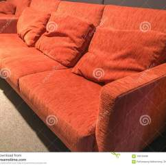 Orange And Black Sofa Bed Tan Leather Gold Coast Wall Stock Photo Image Of Indoor 106145598