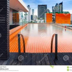 Garden Chair Design Plans Ice Cream Sandwich Bean Bag Orange Swimming Pool On Rooftop With Modern Buildi Royalty Free Stock Photography - Image: 32040227