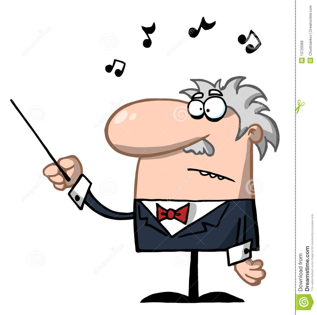 Orchestra Conductor Holds Baton Royalty Free Stock Photos