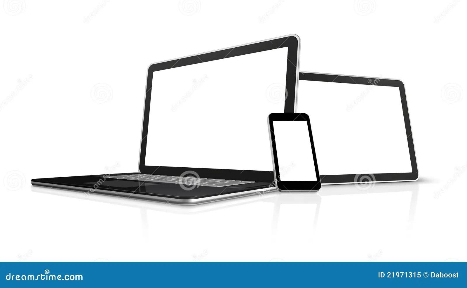 Ordinateur Portatif, Téléphone Portable, PC Digital De