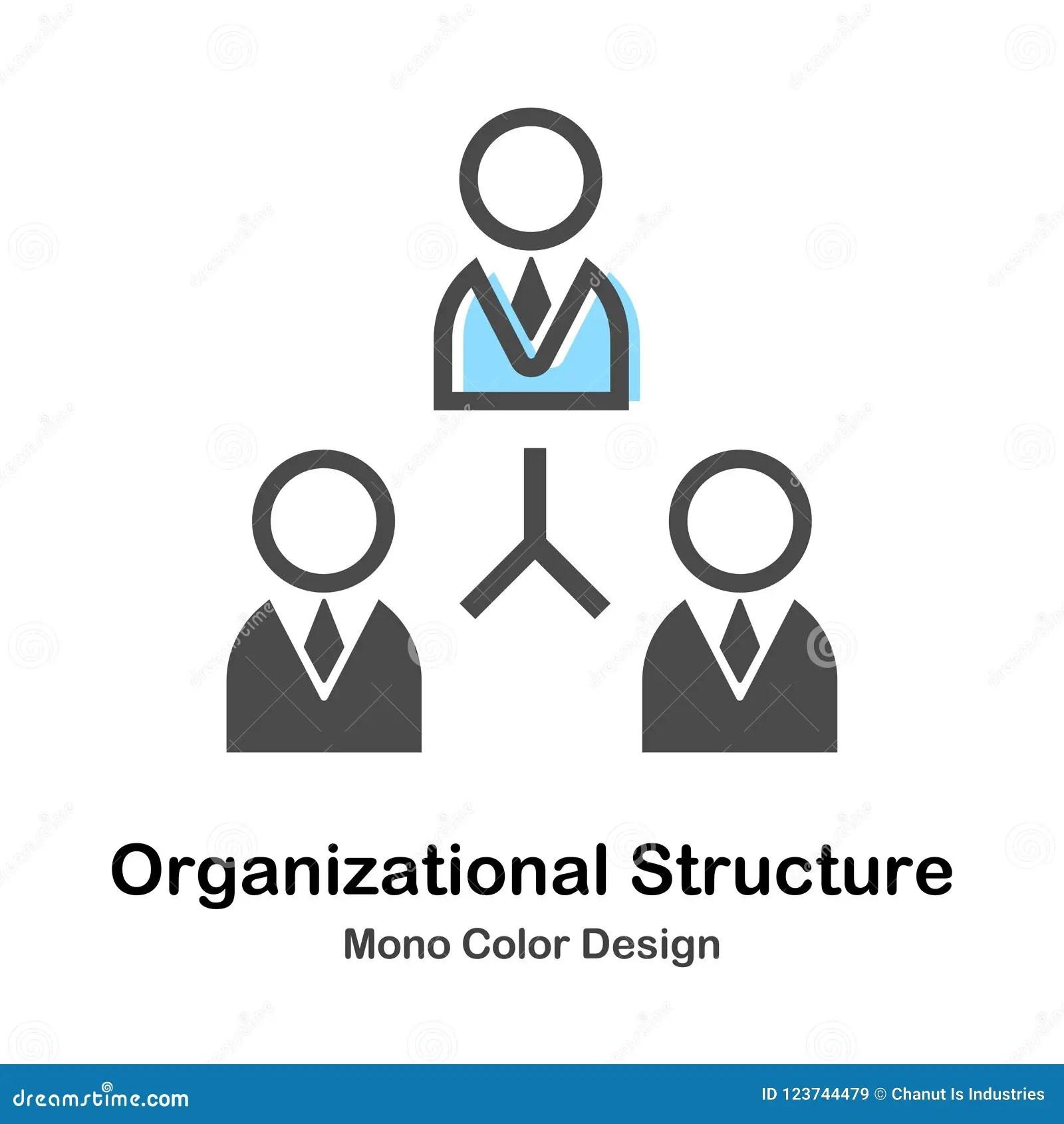 Organization Corporate Chart Company People Cartoon Vector