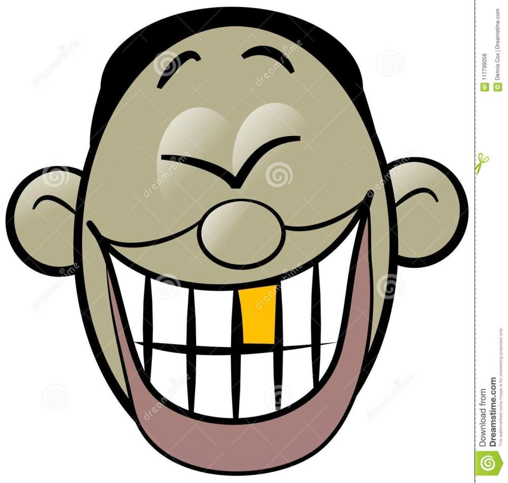 medium resolution of illustration of a cartoon asian mans face laughing hysterically exposing his gold tooth