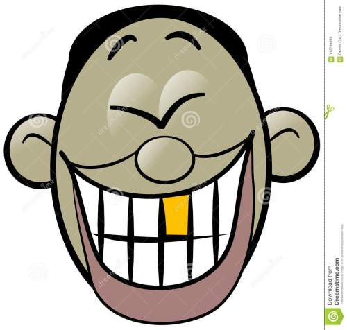 small resolution of illustration of a cartoon asian mans face laughing hysterically exposing his gold tooth