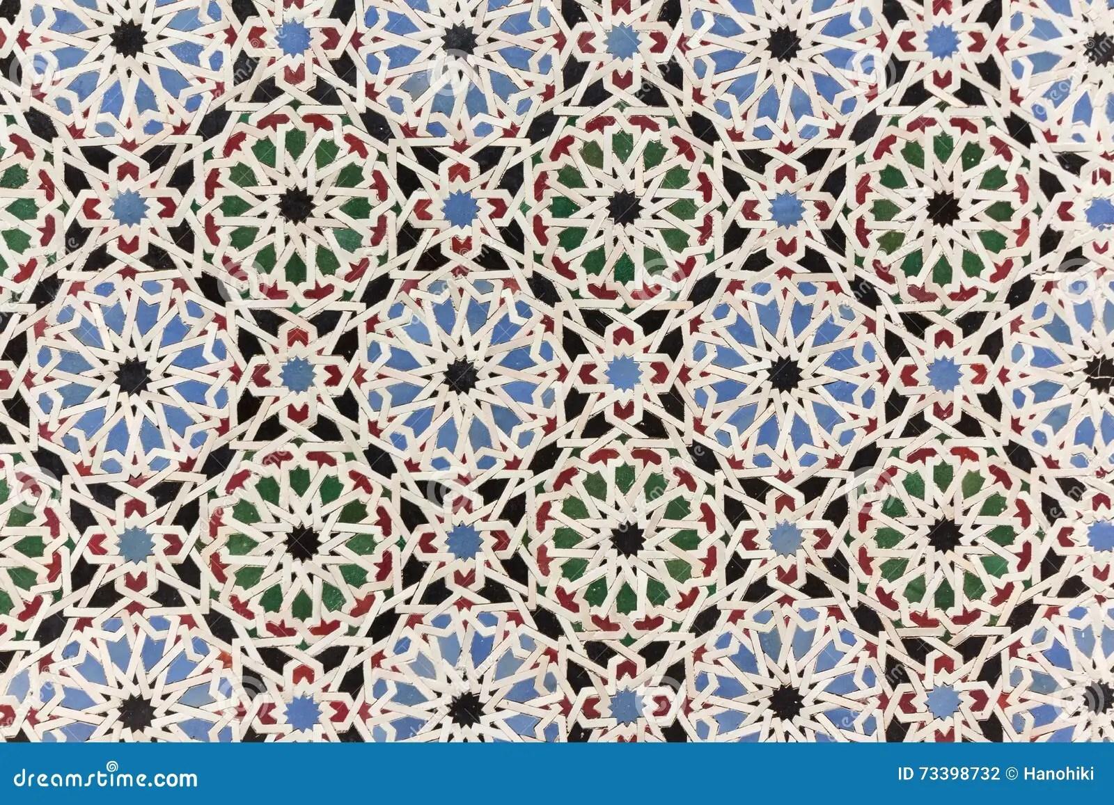 Oriental Mosaic Decoration  Morocco Wall Tiles Stock