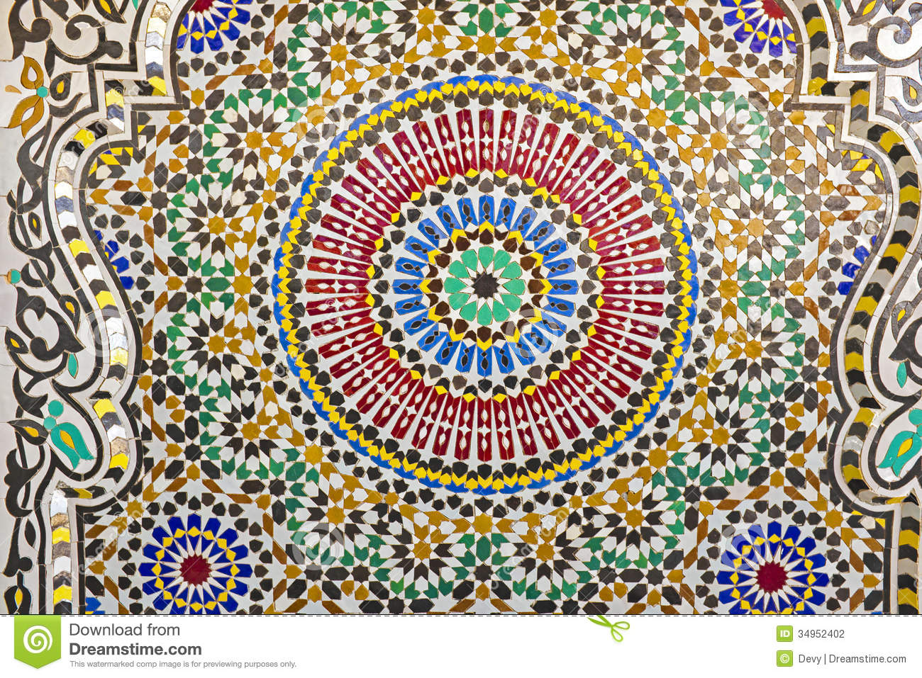 Wallpaper Hd Muslim Oriental Mosaic In Morocco Stock Photography Image 34952402