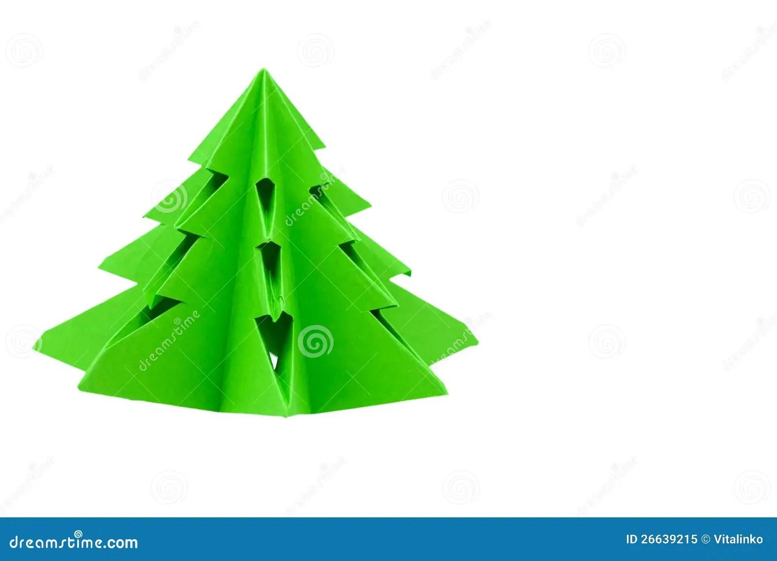 Origami Christmas Tree Royalty Free Stock Photo Image