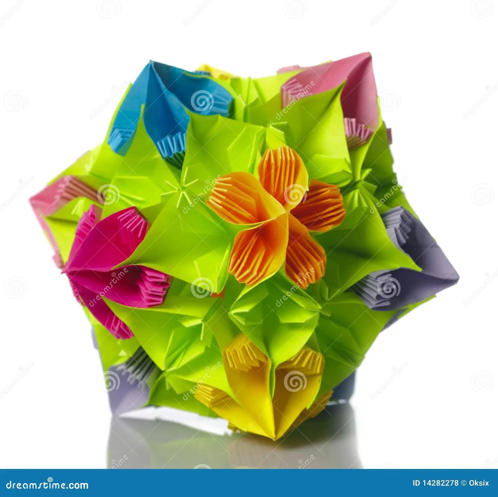 kusudama ball diagram 1992 volvo 240 radio wiring origami flower stock photo image of