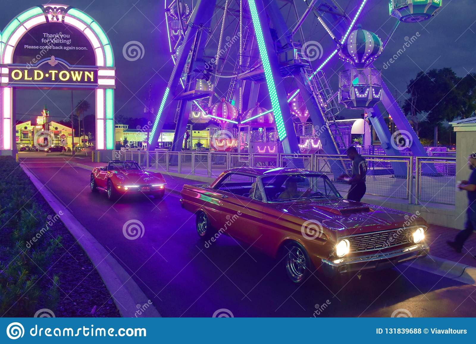 Nice Old Cars Registering To Enter Saturday Nite Classic Car Show And Cruise. At Old Town Ki Editorial Stock Photo - Image of graphic. area: 131839688