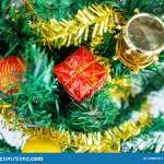 Ornament Decorate Christmas Tree On Christmas Day Before The New Year 2020 Item Color Gold Red Green And Christmas Tree Sparkle Wh Stock Image Image Of White Gold 163691911