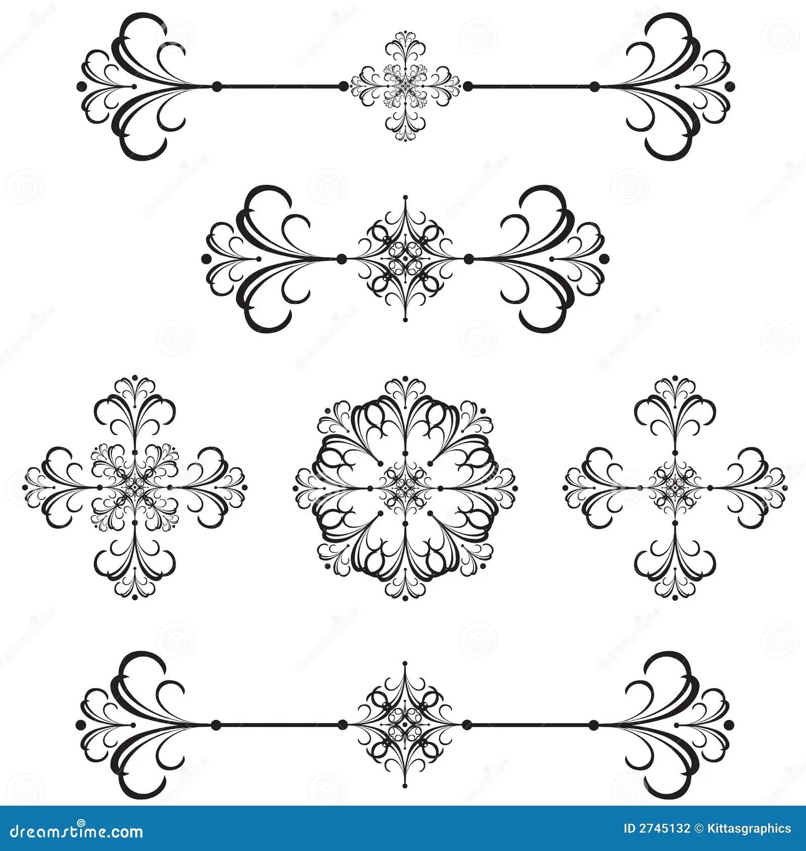 Ornamental Bar Line Divider 40 Stock Vector