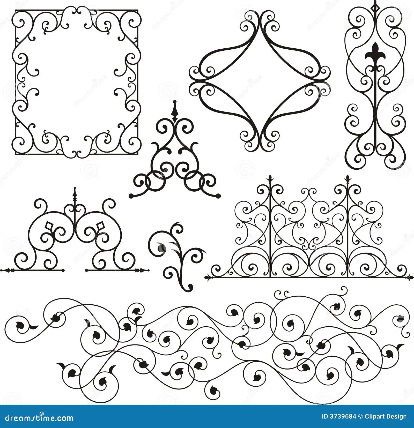 Ornamentos Del Hierro De Wrough Ilustracion Del Vector