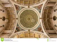 Ornate Celing And Dome Of Catholic Church Stock Photo ...