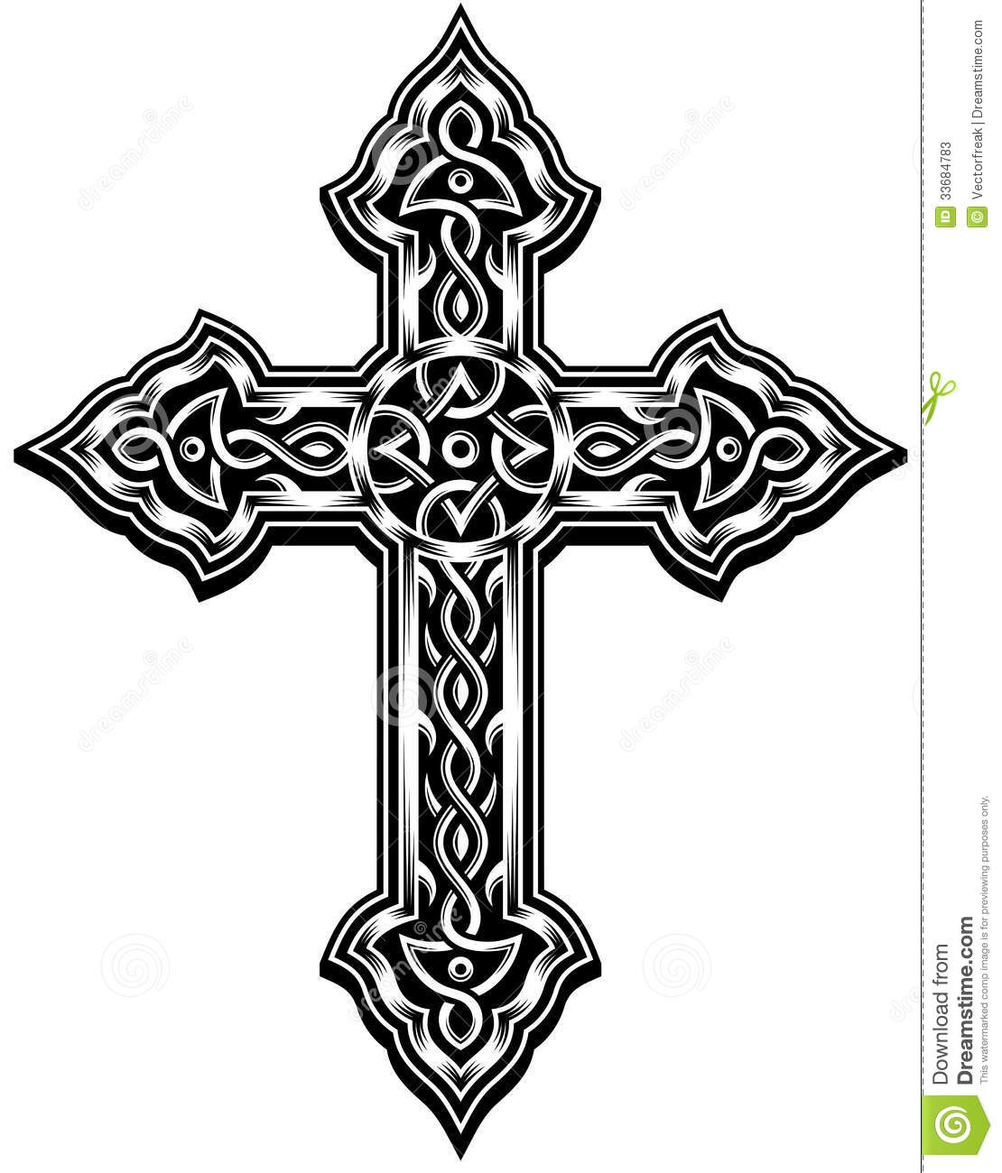 Ornate Cross Vector Stock Photos