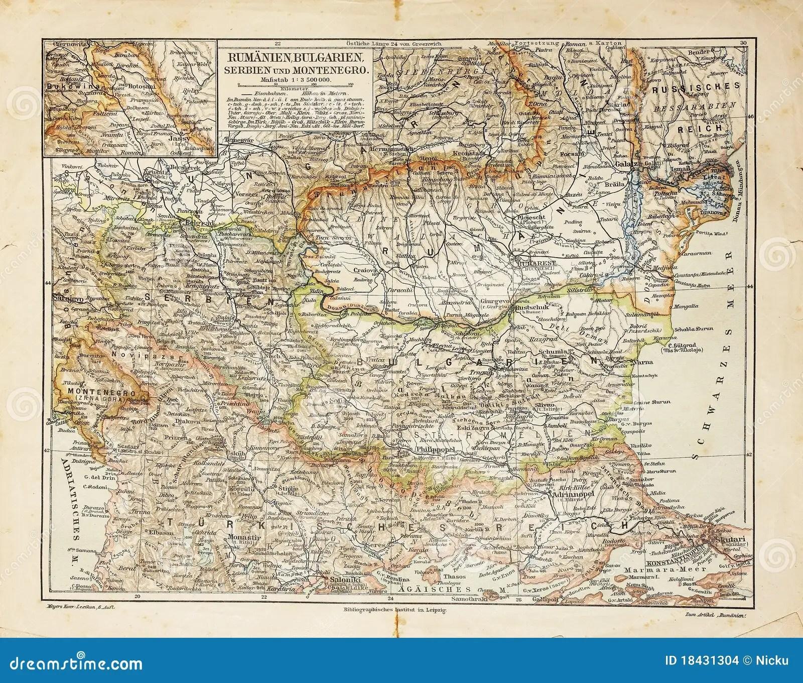 Osteuropa Alte Karte Stockfoto Bild Von Ausfuhrlich