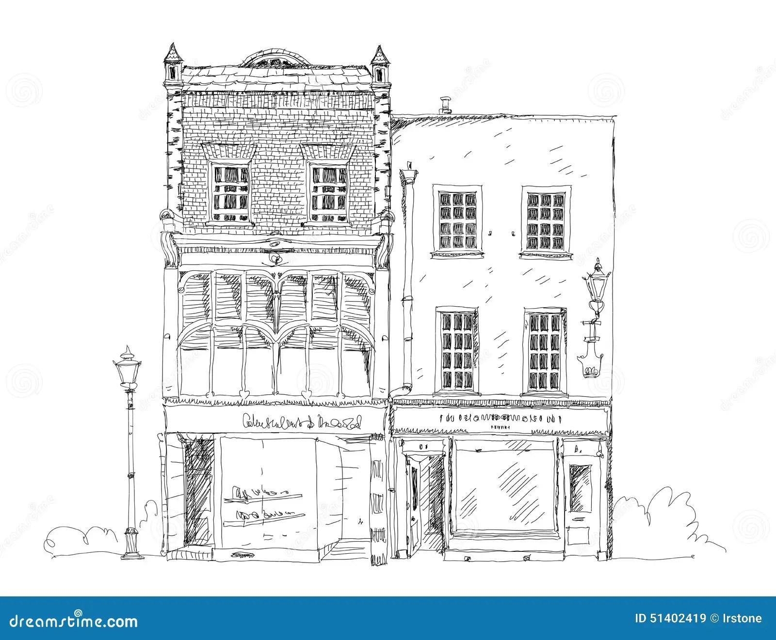 Oud Engels Rijtjeshuis Met Kleine Winkel Of Zaken Op