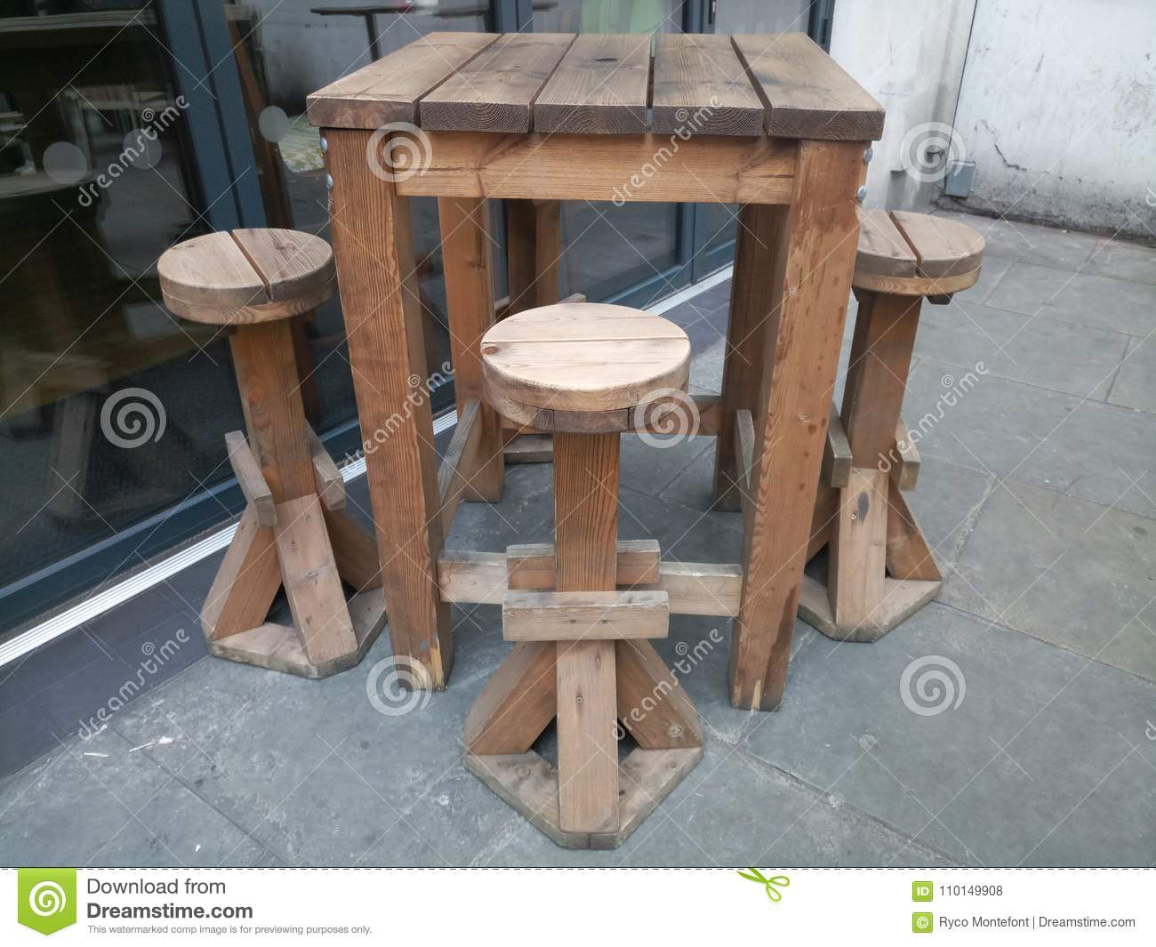 Outdoor Bar Table Stock Photo Image Of Outdoor High 110149908