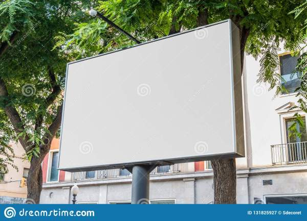 outdoor billboard with natural