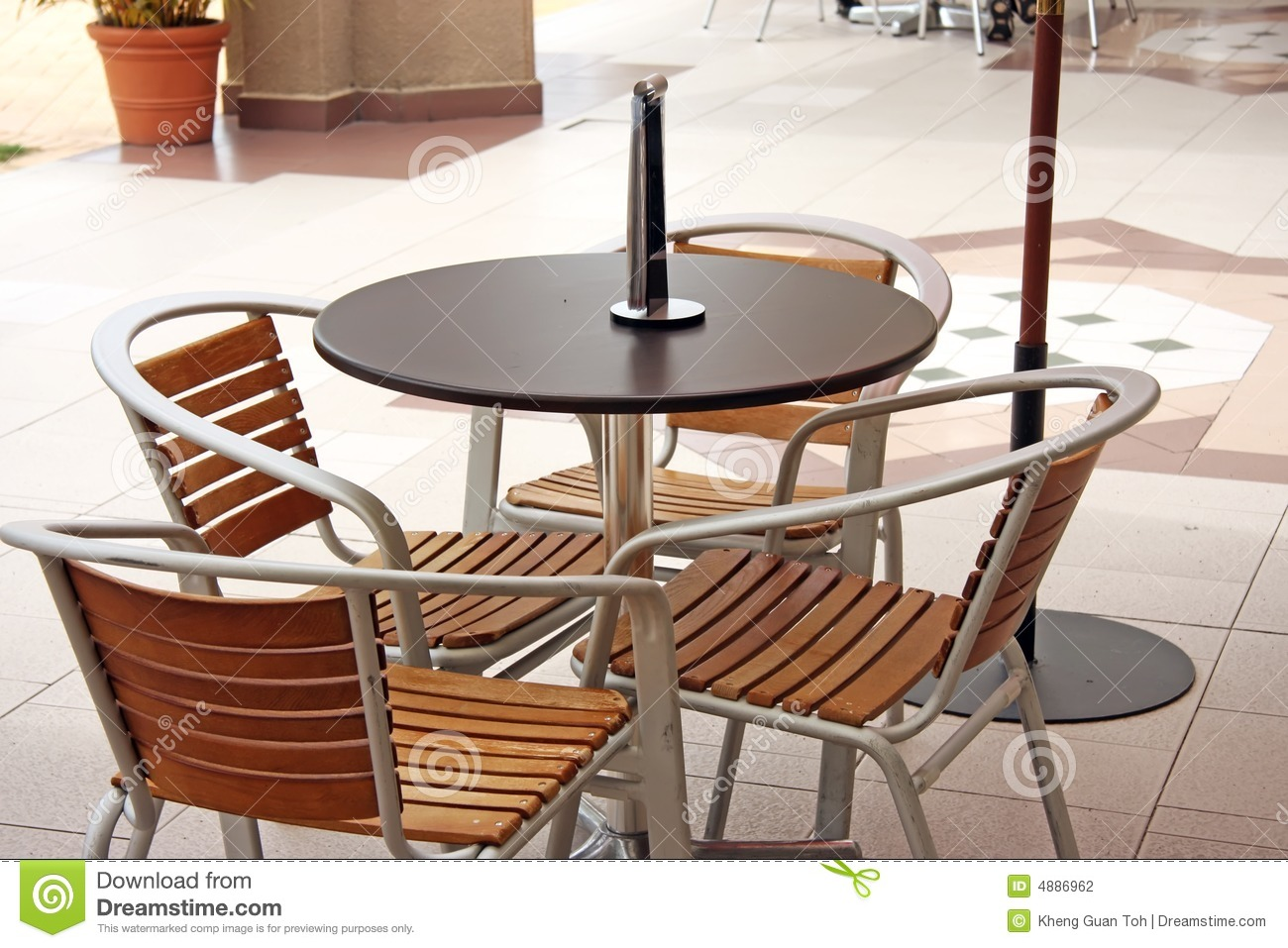 Outdoor Cafe Chairs Outdoor Cafe Furniture Stock Photo Image Of Furniture