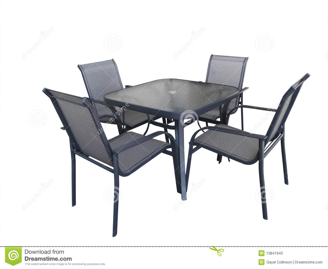 Glass Chair Outdoor Glass Table And Chairs Stock Image Image Of