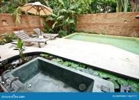 Outdoor Jacuzzi Bathtub In Garden 3 Royalty Free Stock ...