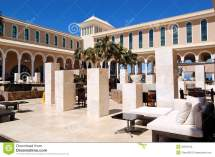 Outdoor Lounge Area Luxury Hotel Stock