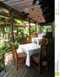 Outdoor Patio Restaurant Dining Stock Image - Image: 10738749