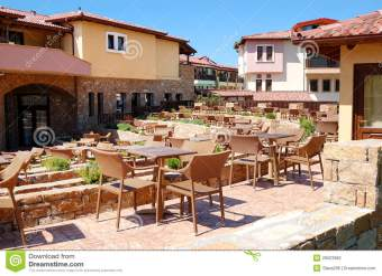 luxury hotel outdoor restaurant preview