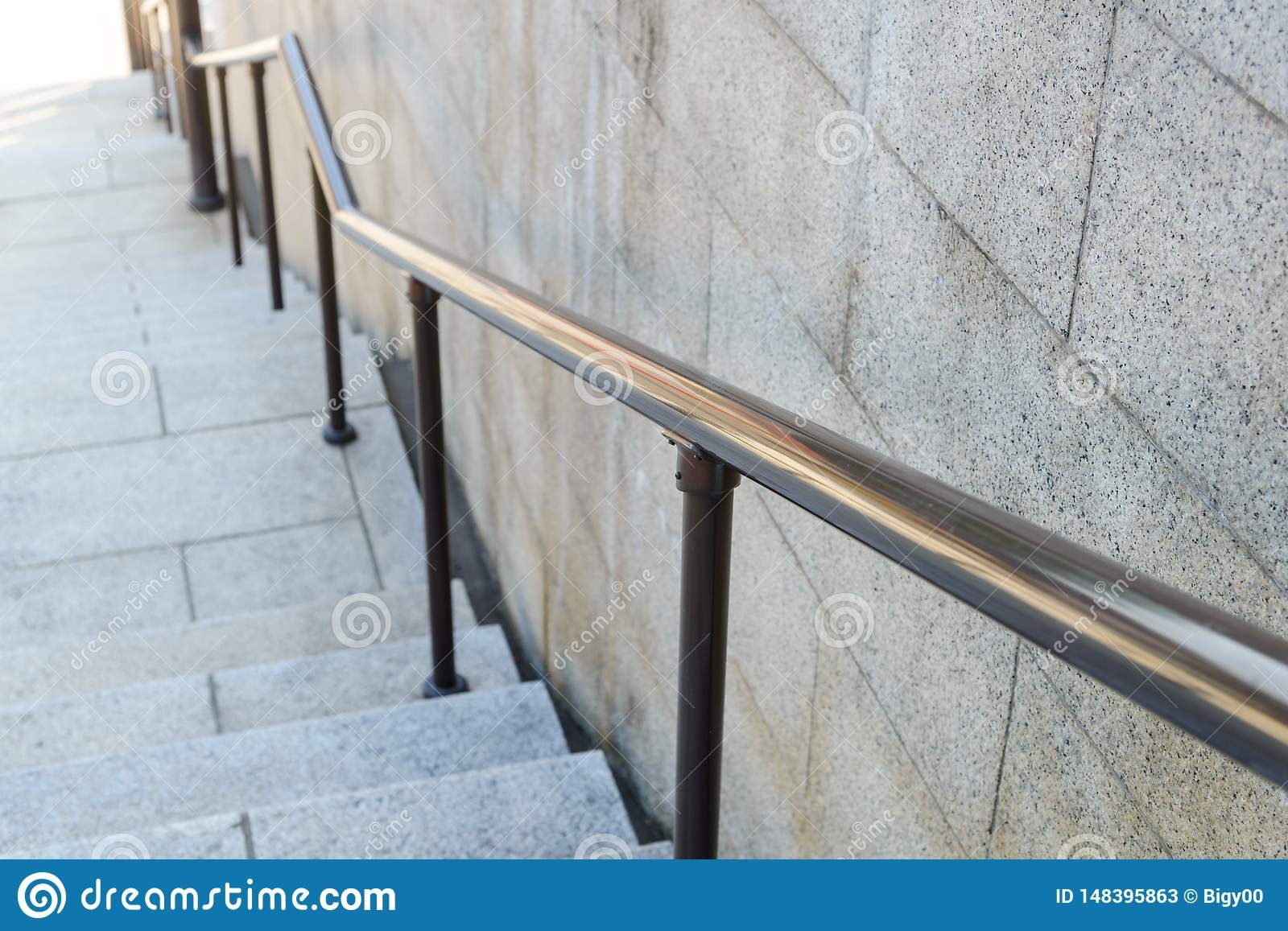 Outdoor Steel Railing With Stair Modern Architecture Stock Image | Metal Railing Stairs Outdoor | Stair Treads | Aluminum | Railing Ideas | Wrought Iron | Spiral Staircase