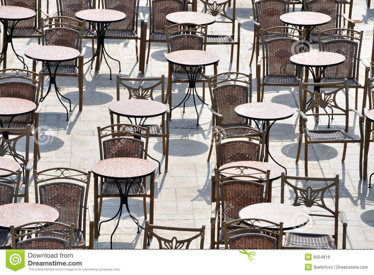 Outdoor Cafe Chairs Outdoor Tables And Chairs Royalty Free Stock Images