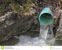Outdoor Water Drainage Pipe Stock Photography