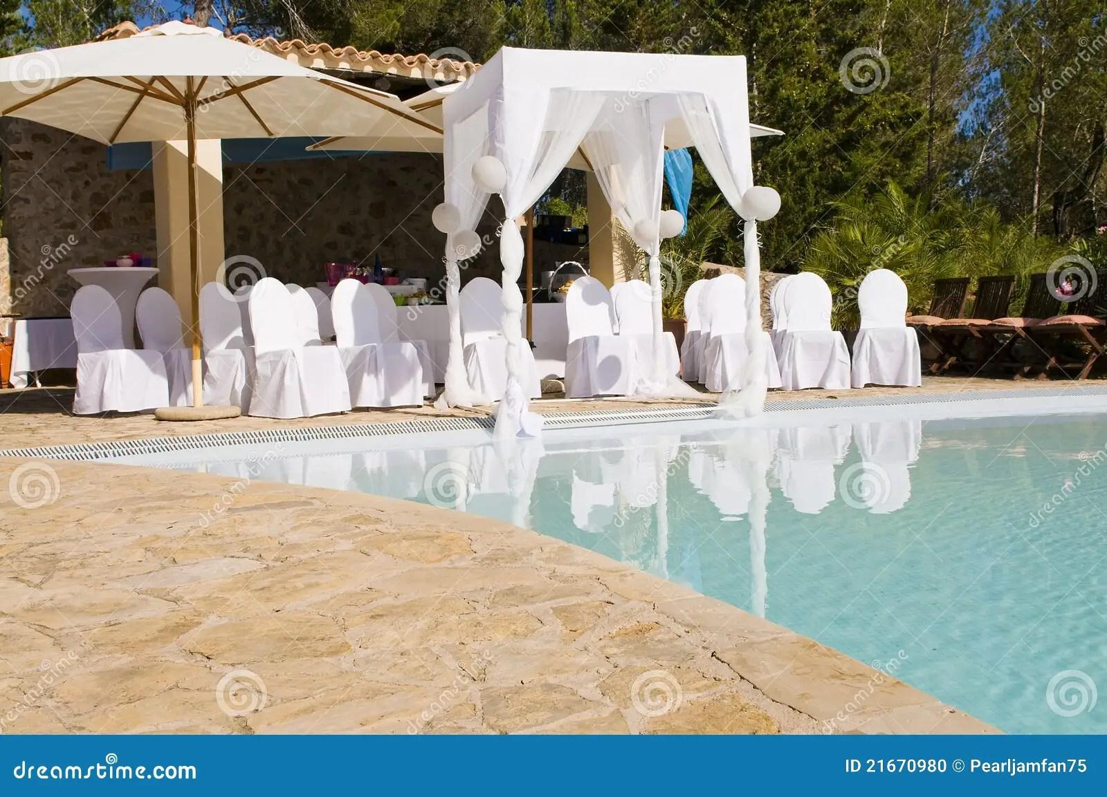 Outdoor Wedding Scene Stock Photo  Image 21670980