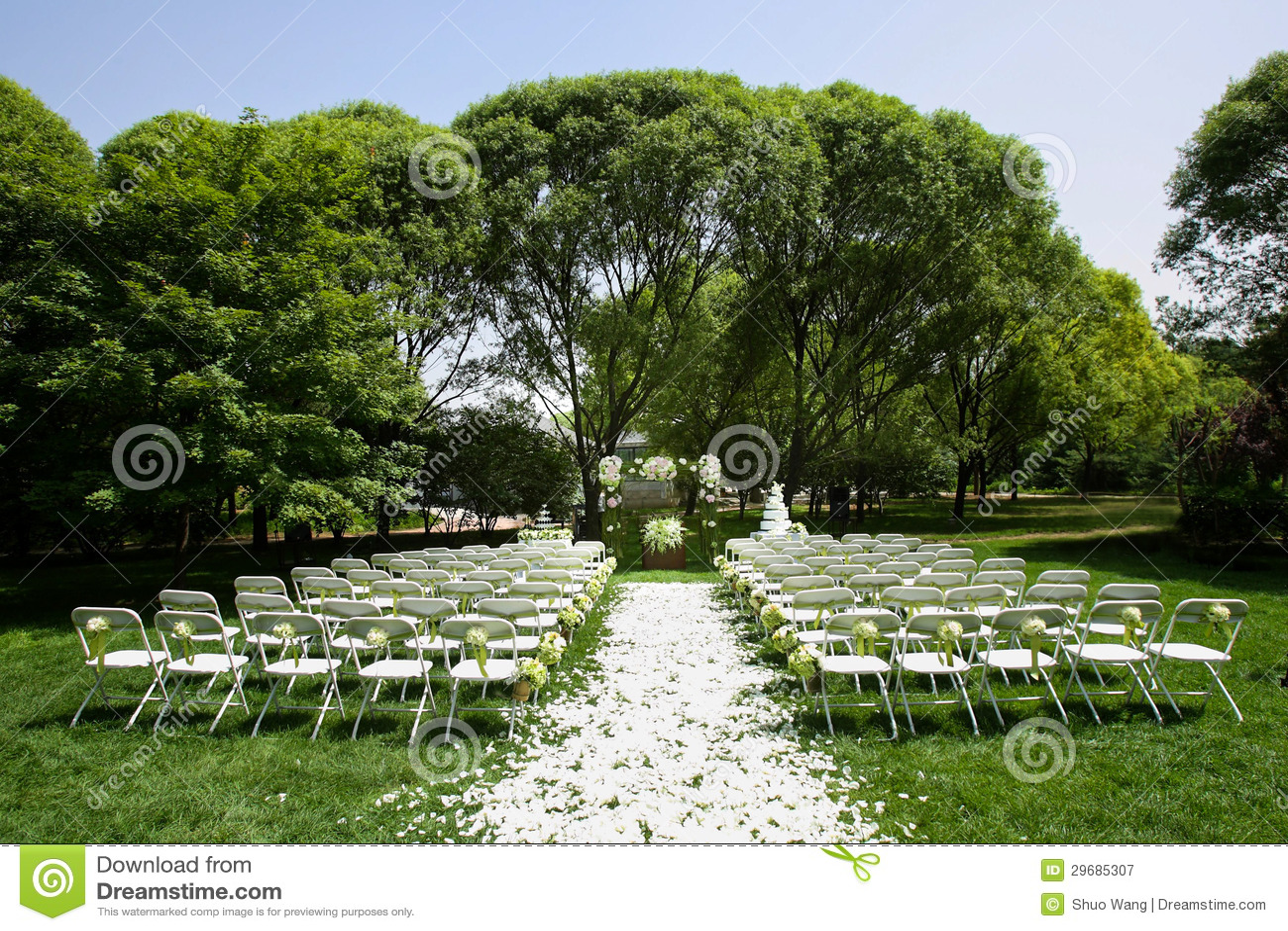 Outdoor wedding Scene stock image Image of engagement  29685307