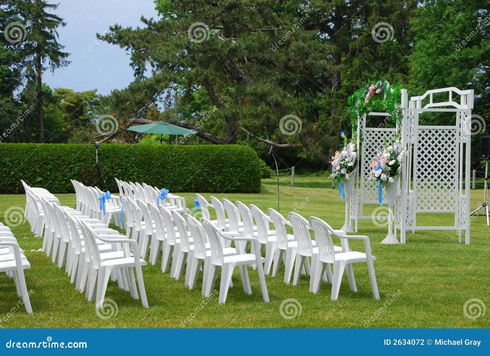 Outdoor Wedding Setup Stock Photography Image 2634072