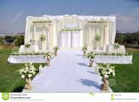 Outdoor Wedding Stage stock photo. Image of decoration ...