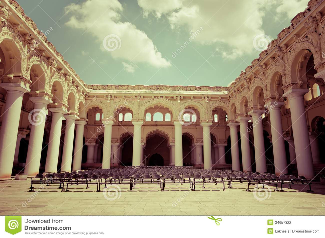 stool chair photography black and cream dining chairs outdoors concert hall with ancient columns stock - image: 34657322