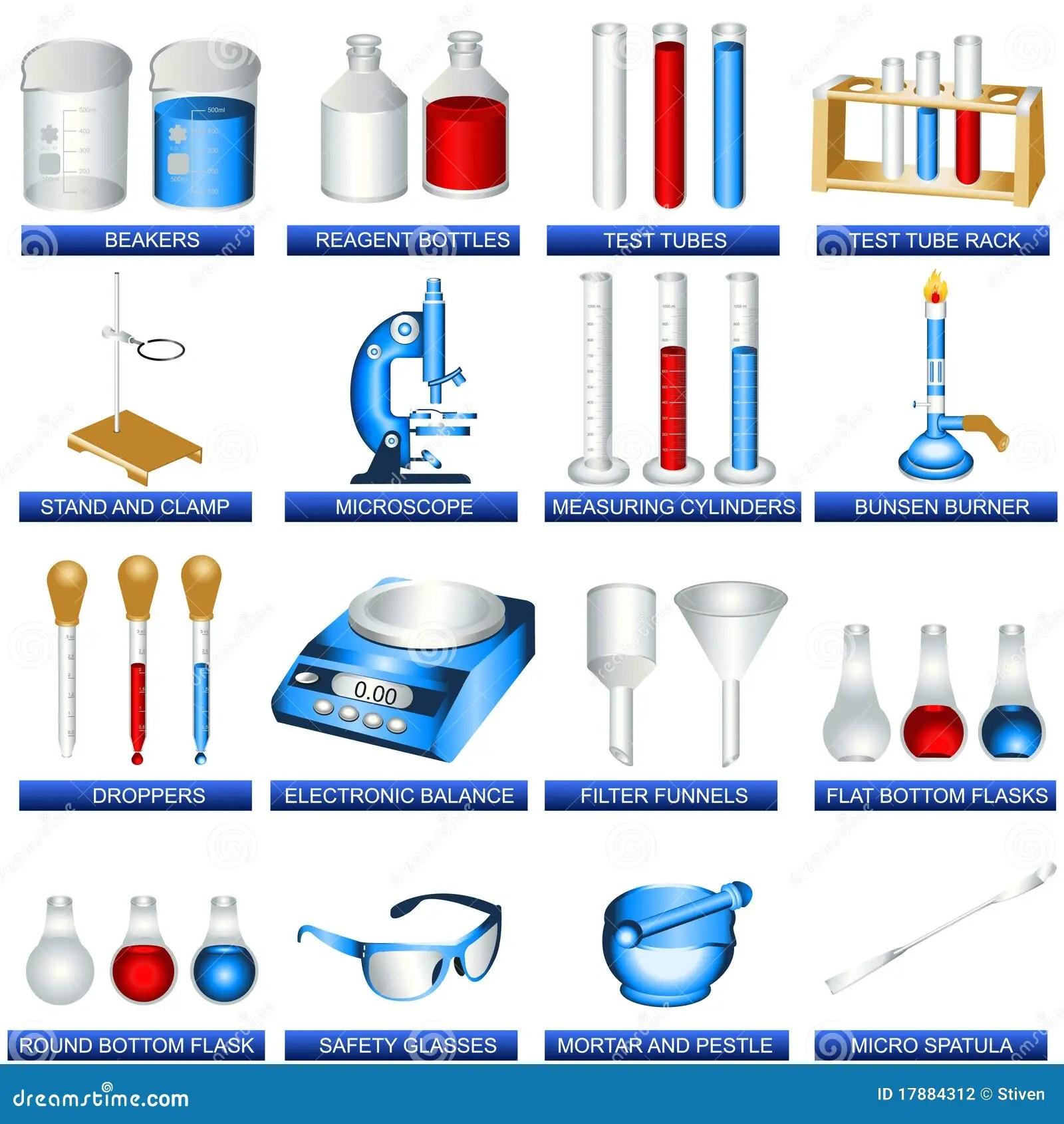 Outils De Laboratoire Illustration De Vecteur