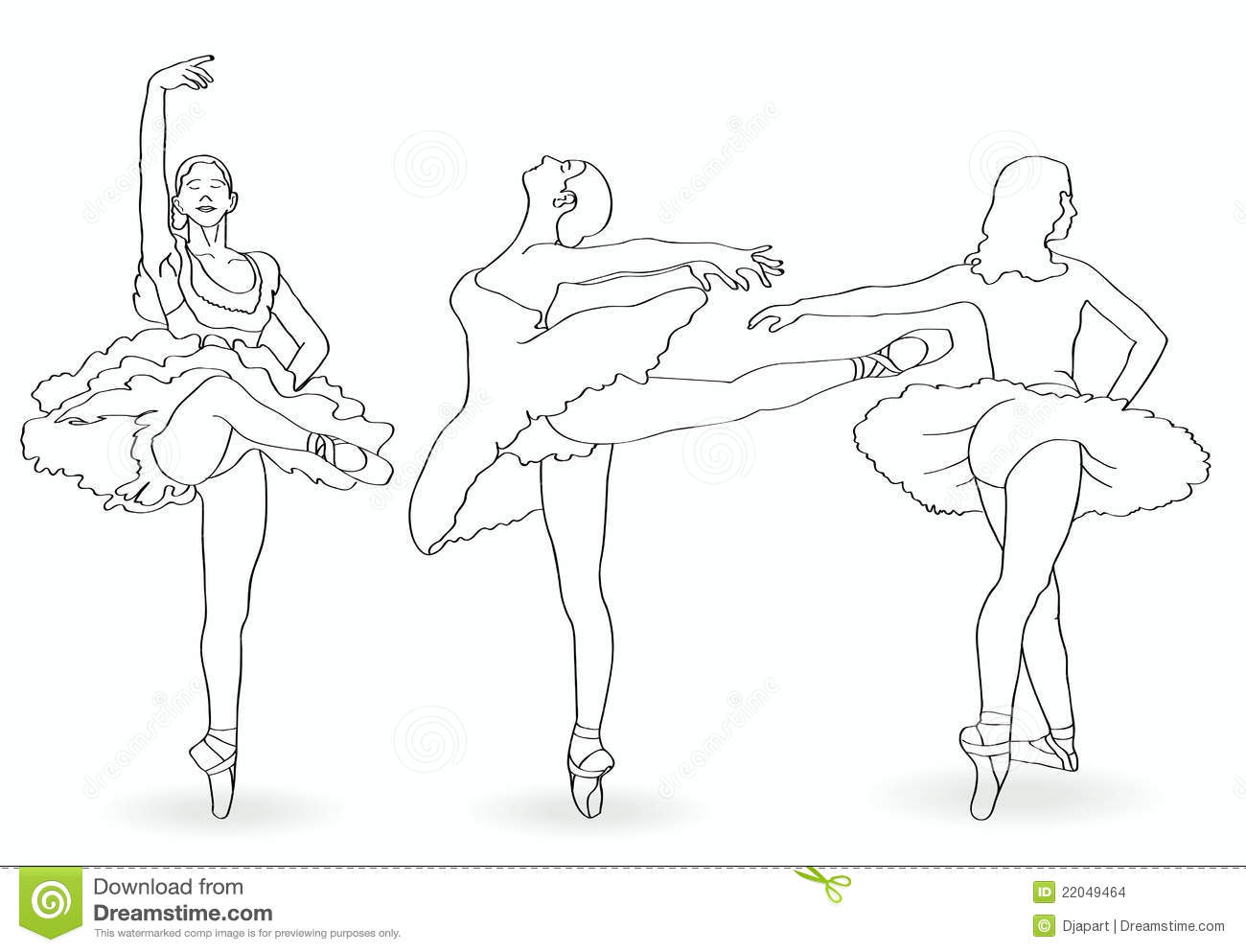 Outline Of Ballerina Stock Images