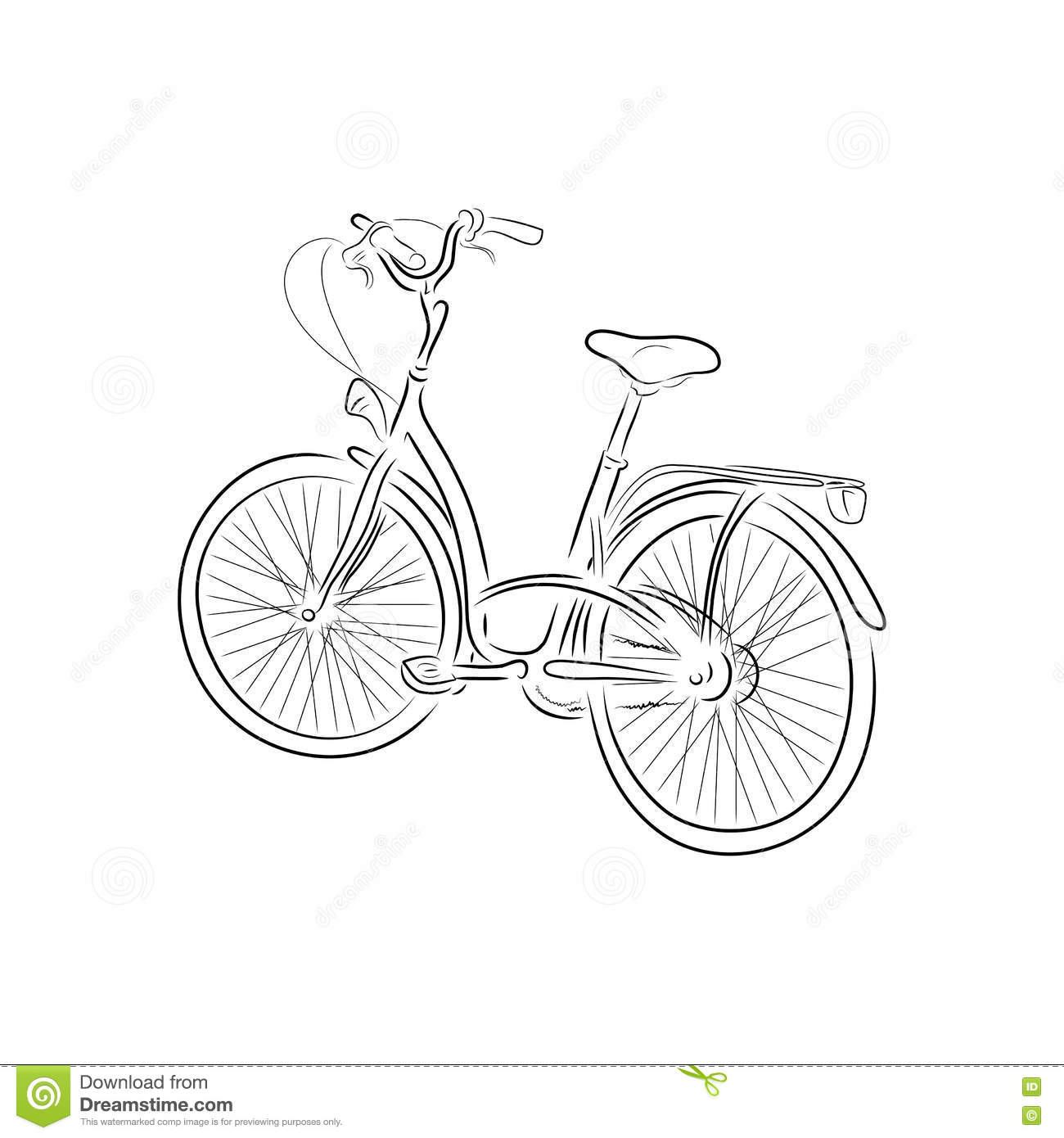 Outline Bicycle Pump In Red Circle With Long Vector
