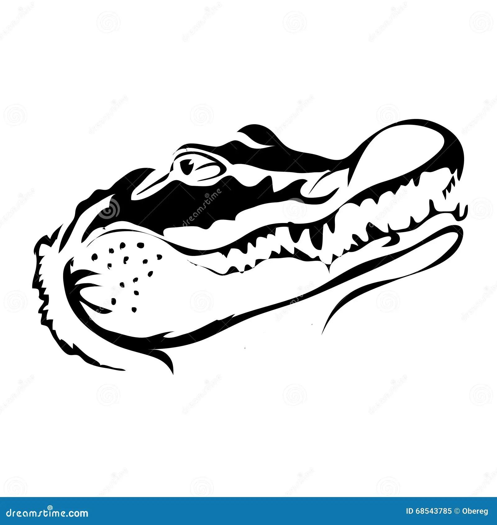 Outline Crocodile Vector Image Stock Vector