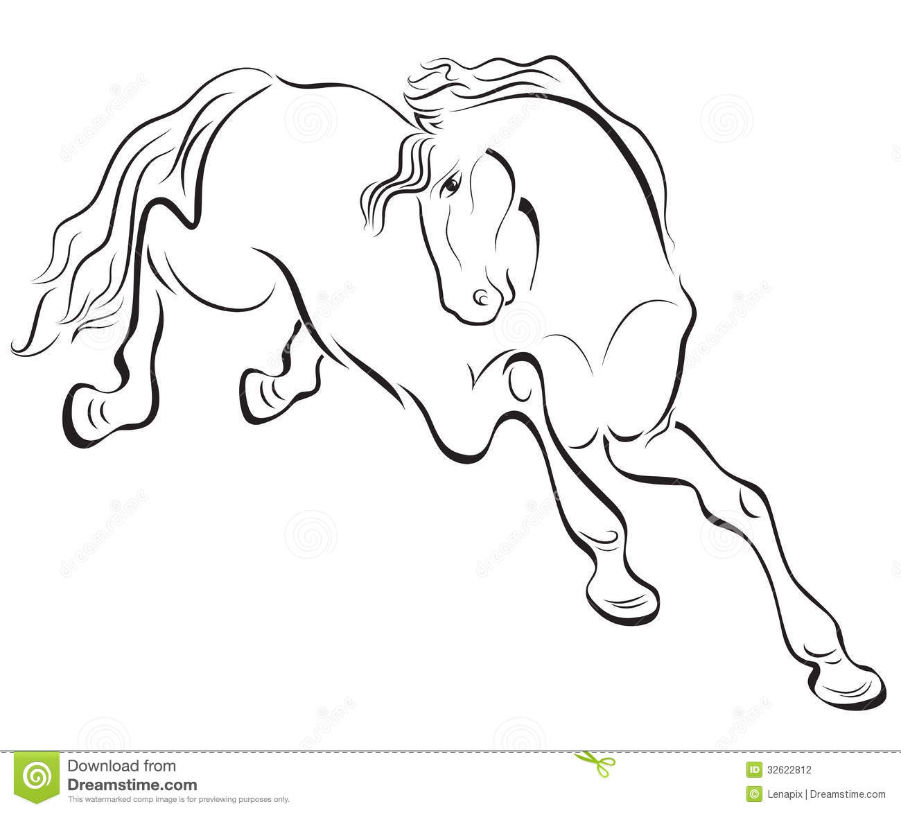 Outline Horse Drawing Stock Vector Image Of Mammal Horse