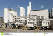Outline Of Industrial Facility Royalty Free Stock