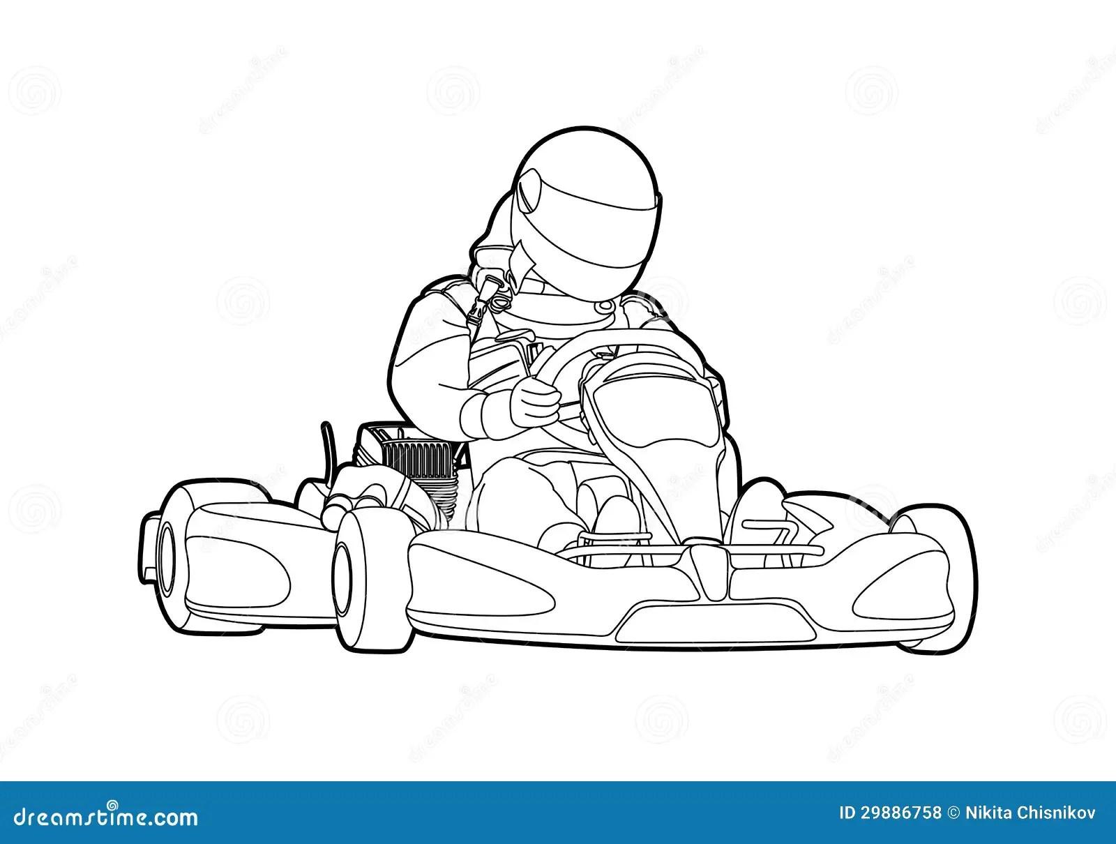 Karting Stock Vector Illustration Of Kart