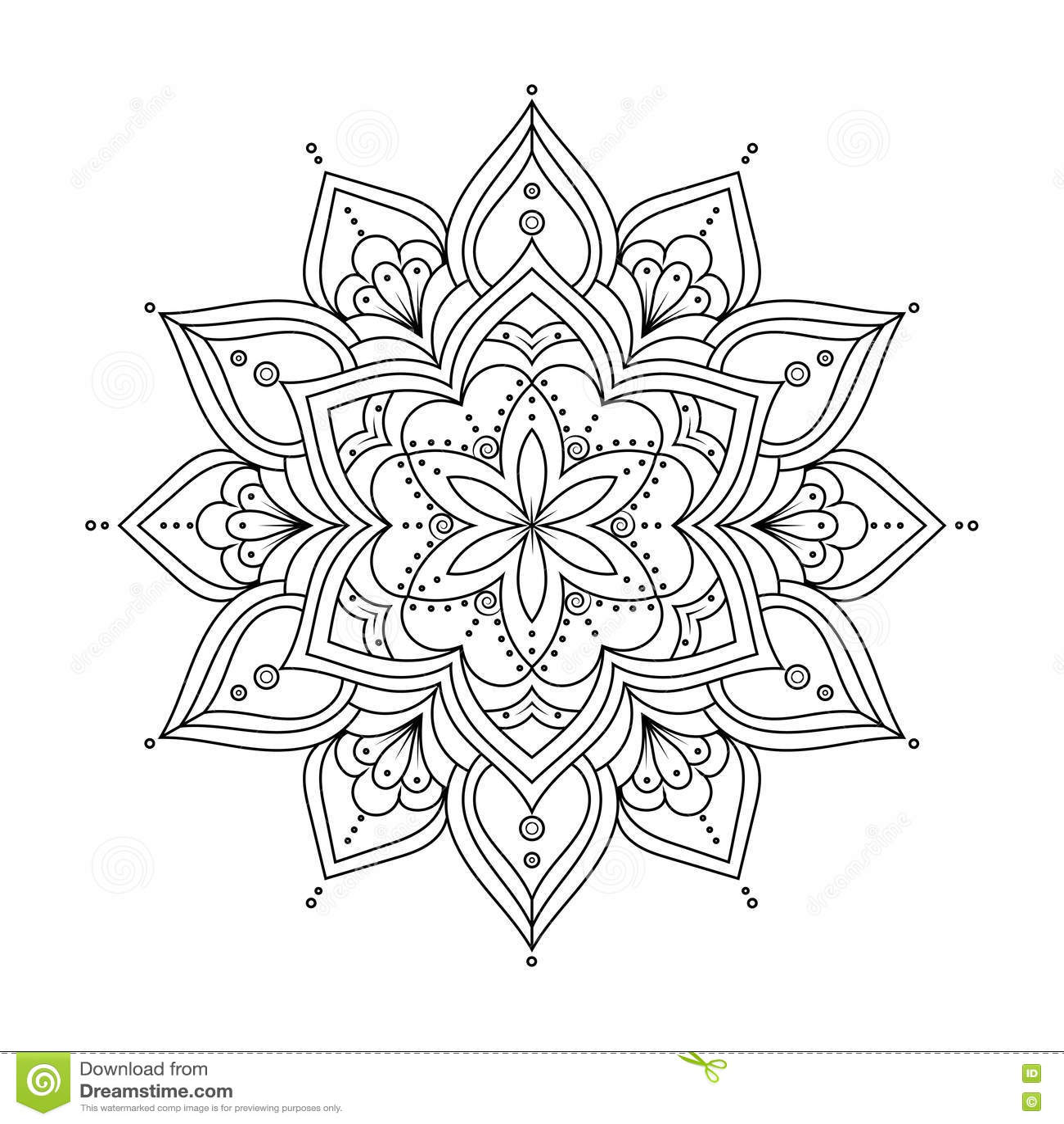 Hand Drawn Ethnic Background Royalty-Free Stock Photo