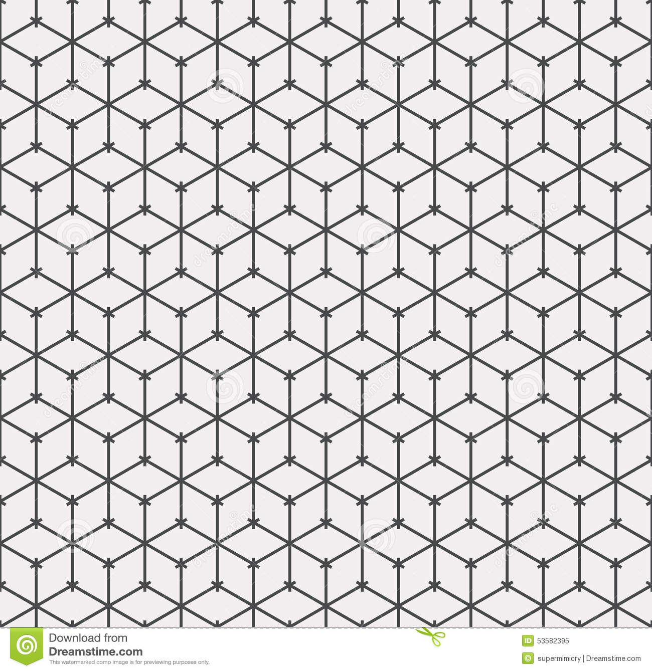 Outline pattern of cubes stock vector. Illustration of